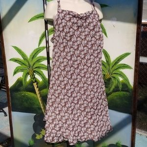 Brown and white floral sundress